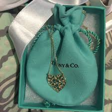 tiffany co olive leaf heart necklace