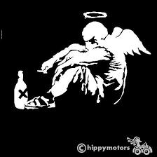 Banksy Fallen Angel Decal Top Quality External Grade Vinyl Made In Uk