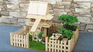 How To Make Popsicle Stick Rural House Dreamhouse Simple Easy Crafts Youtube