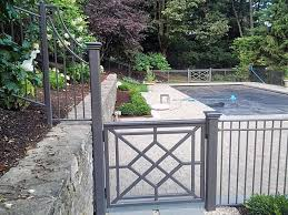 Decorative Wrought Iron Pool Fence Backyard Fences Fence Landscaping Front Yard Fence