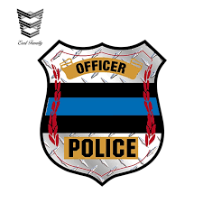 Earlfamily 13cm X 11 5cm Thin Blue Line Badge Diamond Window Decal Police Law Enforcement Car Styling Car Sticker Car Stickers Aliexpress