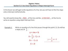 ppt algebra i notes section 5 2 use