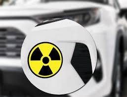 Radiation Symbol Sign Vinyl Sticker Radioactive Caution Decal Yellow Black Round Ebay