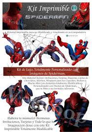 Kit Imprimible Spiderman El Hombre Arana Invitaciones Full