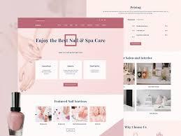 nail salon template by weblium