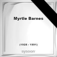 Myrtle Barnes †66 (1925 - 1991) Online memorial [en]