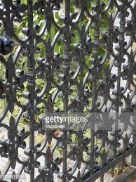 Decorative Wrought Iron Gate At The Entrance To The Front Yard High Res Stock Photo Getty Images