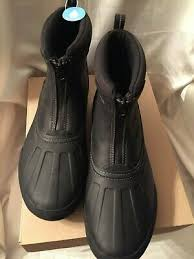 clarks men s 13 black zipper leather