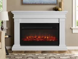 beau white electric fireplace