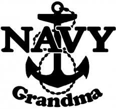Navy Grandma Car Or Truck Window Decal Sticker Rad Dezigns