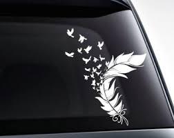 Feather Vinyl Decal Etsy