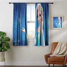 Amazon Com Kids Decor Curtain Frozen Magic Winter Curtains For Living Room Bedroom Home Kitchen