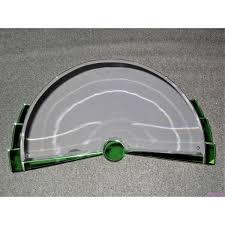 demi lune shaped art deco mirror green