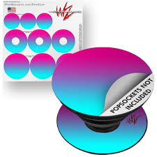 Decal Style Vinyl Skin Wrap 3 Pack For Popsockets Smooth Fades Neon Teal Hot Pink Popsocket Not Included By Wraptorskinz Walmart Com Walmart Com