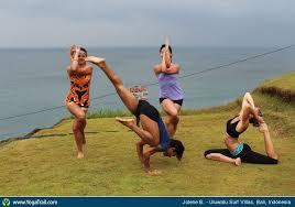 group shot yoga pose asana image by