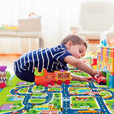 Kids Carpet Playmat Rug City Life Great For Playing With Cars And Toys Play Learn And