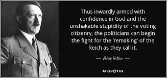 adolf hitler quote thus inwardly armed confidence in god and