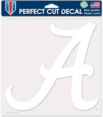 Amazon Com Alabama Crimson Tide Ncaa Vinyl Die Cut Window Decal Auto Car Logo White 8x8 Sticker College Licensed Team Logo Sports Outdoors