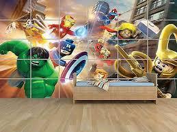 Lego Marvel Avengers Heroes Poster Massive Huge Room Kids Room Games Children Ebay