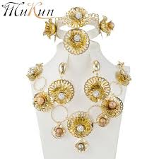 fashion african pearl jewelry set