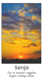 senja quote matahari tenggelam dan malam