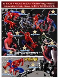 Kit Imprimible Spiderman Invitaciones Tarjetas Cajas Fondos Y