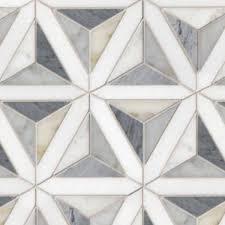 geometric pattern white marble floor