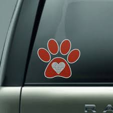 6 Paw Print With Heart Car Decal Rhinestone Paw Print Decal Sticker Dog Decal Cat Decal Pet Sitter Cat Dog Paw Print Decal Sticker In 2020 Rhinestone Paw Print Paw Print