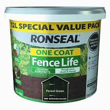 Ronseal Fence Life One Coat Forest Green 9l David Neill Mica