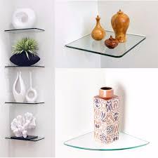 floating glass shelves glass corner