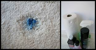 nail polish out of carpet for wet