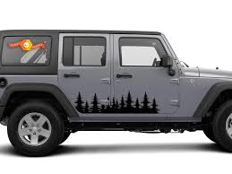 Product Forest Tree Side Decal Graphics Door Sticker Outdoors Jeep Wrangler 4x4 Usa
