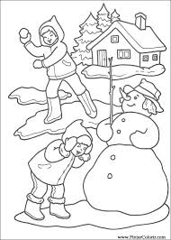 Tekeningen Te Schilderen Kleur Kerst Print Design 222