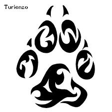 Turienzo 11 4 15cm Tribal Tattoo Wolf Paw Footprint Decal Vinyl Stickers Classic Creative Car Window Decoration Accessories Car Stickers Aliexpress