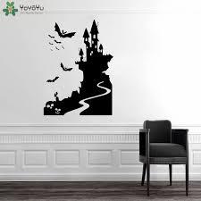 Yoyoyu Wall Decal Halloween Castle Bats Wall Sticker Vinyl Wall Decal For Living Room Windows Wall Halloween Decals Qq51 Wall Stickers Aliexpress