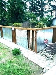 Corrugated Metal Privacy Screen Google Search House Fence Design Fence Design Corrugated Metal Fence
