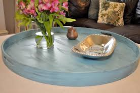 round extra large ottoman tray