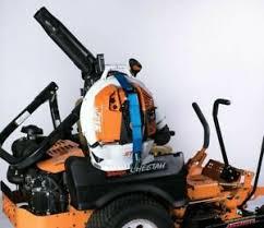 versi rack zero turn mower backpack