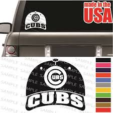 Chicago Cubs Mlb Baseball Cap World Series Cool Decal C