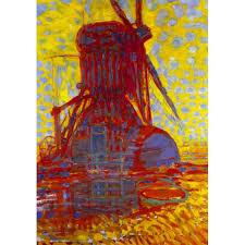 the windmill in sunlight