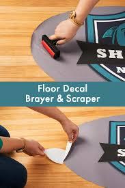 2 Piece Brayer Scraper Set For Window Clings Floor Decals Plastic In 2020 Floor Decal Floor Stickers Window Clings