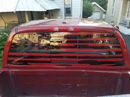 Dodge Ram Rear Window Distressed Flag Decal Choose Color Turbo Diesel 1500 2500 Ebay