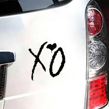 Car Truck Parts Decals Stickers The Weeknd Xo Sticker Car Truck Window Laptop Macbook Wall Door Decal Universal Decals Emblems License Frames Smpg Es