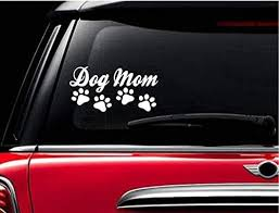 Amazon Com Stickerloaf Brand Dog Mom Pet Decal Car Truck Auto Window Sticker Bumper Decal Any Color Love Cats Kitten Animal Rescue Pets Paw Paws Handmade