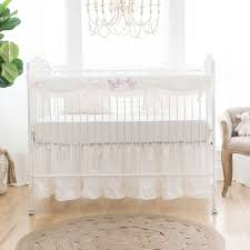 ivory crib bedding washed linen new