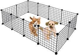 Amazon Com Metal Pet Fence Panels Portable Foldable Diy Shape Dogs Playpen Bunny Puppy Dwarf Rabbits Pigs Cat Exercise Pen Cage New Pet Supplies Black 12 Panels Us Stock Arts Crafts Sewing