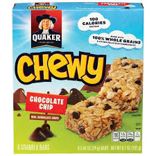 count chewy chocolate chip granola bars