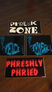 Phish Inspired Bumper Window Stickers Phish Lot Trey Etsy