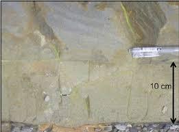 graded bed overlying massive sandstone