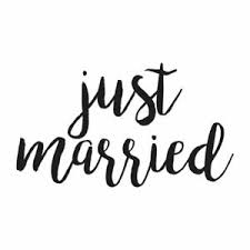 Just Married Vinyl Decal Sticker Multiple Colors Sizes Ebn4237 Ebay